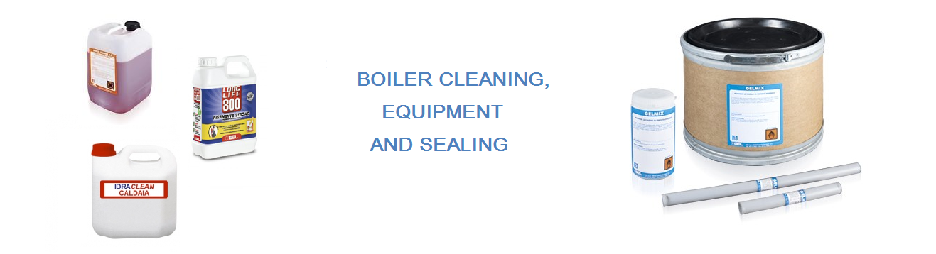 Boiler cleaning, equipment and sealing
